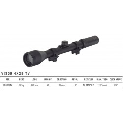 Visor Gamo 4X28 TV