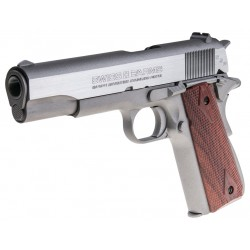 Pistola Cybergun P1911 Nickel/Madera (Réplica Colt 1911) Co2 Full Metal