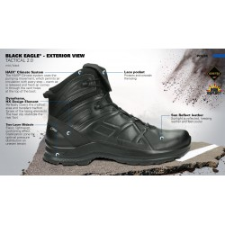 Botas Haix Black Eagle Táctical 2.0 Gore Tex Safety 50 Mid
