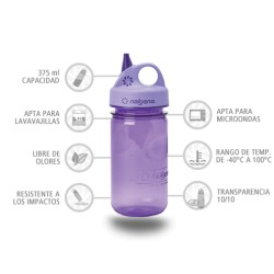 Botella Nalgene Grip'N Gulp Lila 375 ml