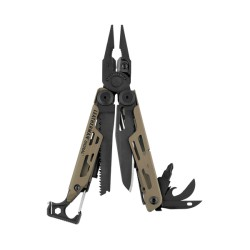 Alicate Multiusos Leatherman Signal Coyote Funda Nylon