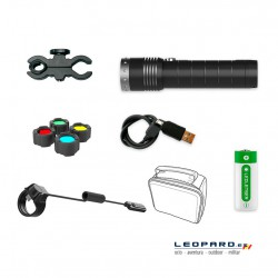 Linterna Led Lenser MT14 1000 Lumens Recargable Kit Caza