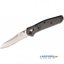 Benchmade 940S-1 Sheepsfoot Gris Filo Mixto Fibra de Carbono