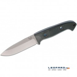Benchmade Bushcrafter 162 Drop Point Azul Funda Piel