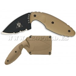 Ka-Bar TDI Law Enforcement Knife Coyote Brown Serrated